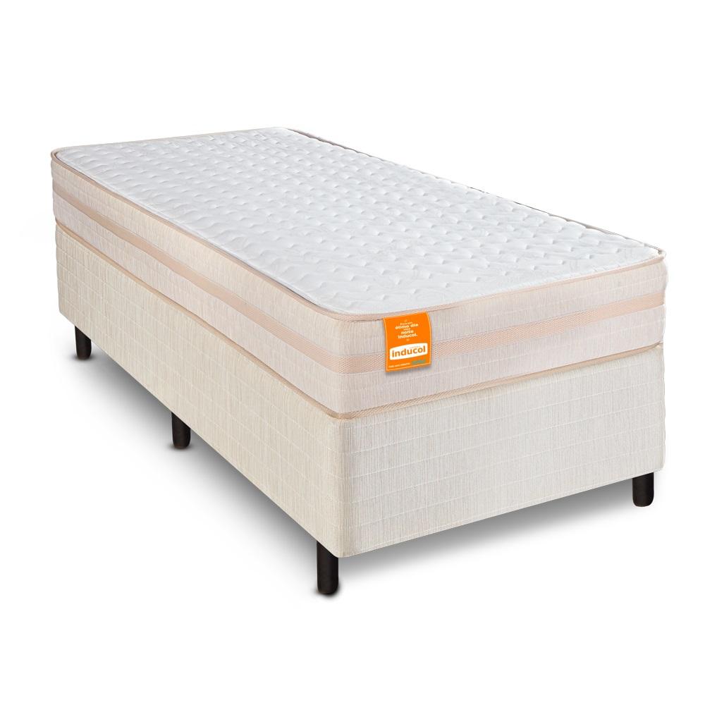 Cama Box Solteiro com Colchão Istambul SoftGel 88 x 188cm Inducol
