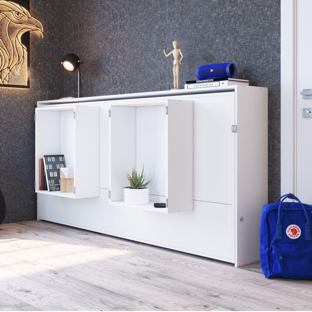 Cama de Solteiro Dobrável Horizontal para colchão 88cm Latino CH2090 Art in Móveis