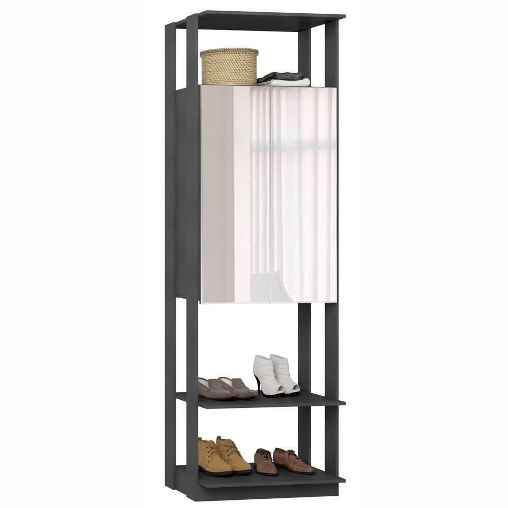Closet Componível 2 Portas com Espelho 70cm 1007 Clothes BE Mobiliário
