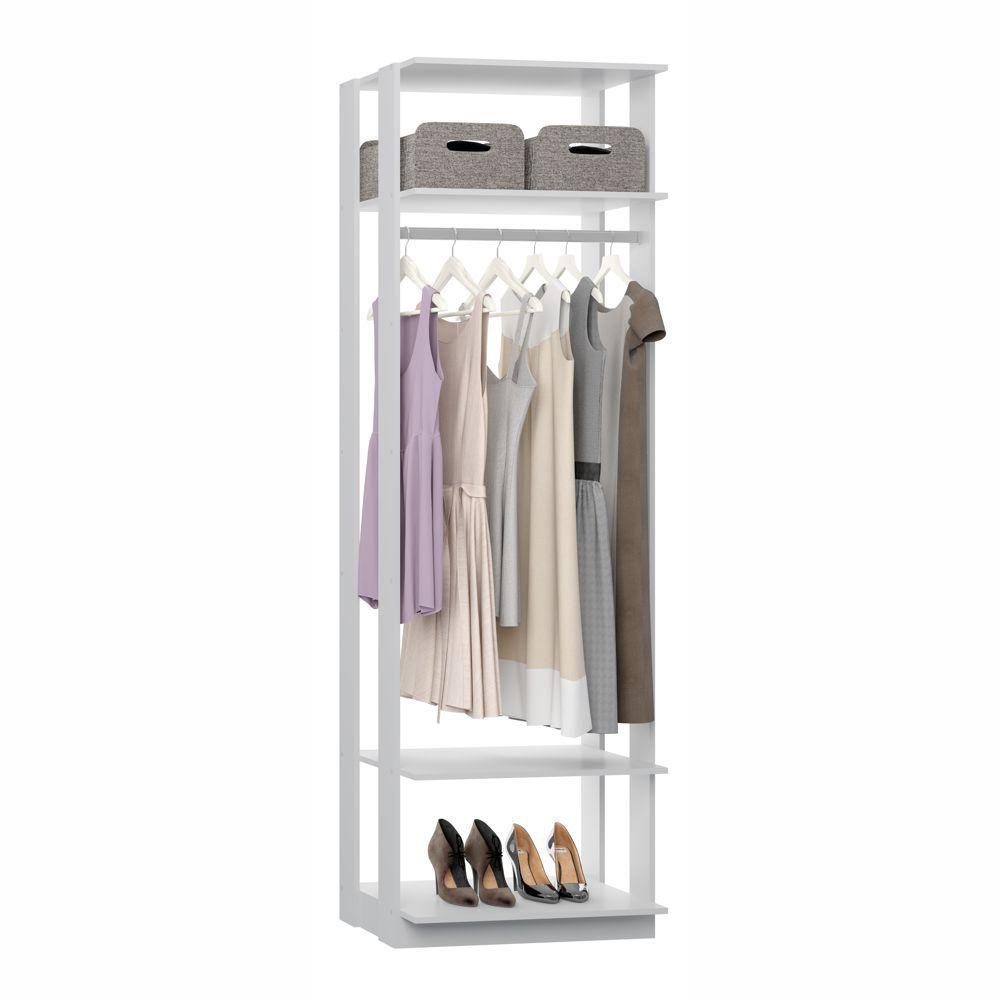 Closet Componível 2 Prateleiras e Cabide Alto 70cm 1008 Clothes BE Mobiliário
