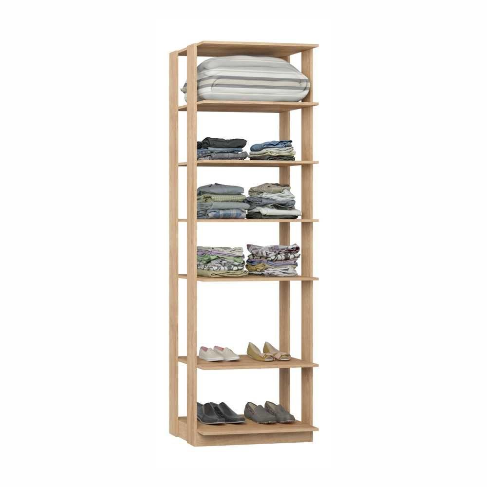 Closet Componível 5 Prateleiras 70cm 1002 Clothes BE Mobiliário