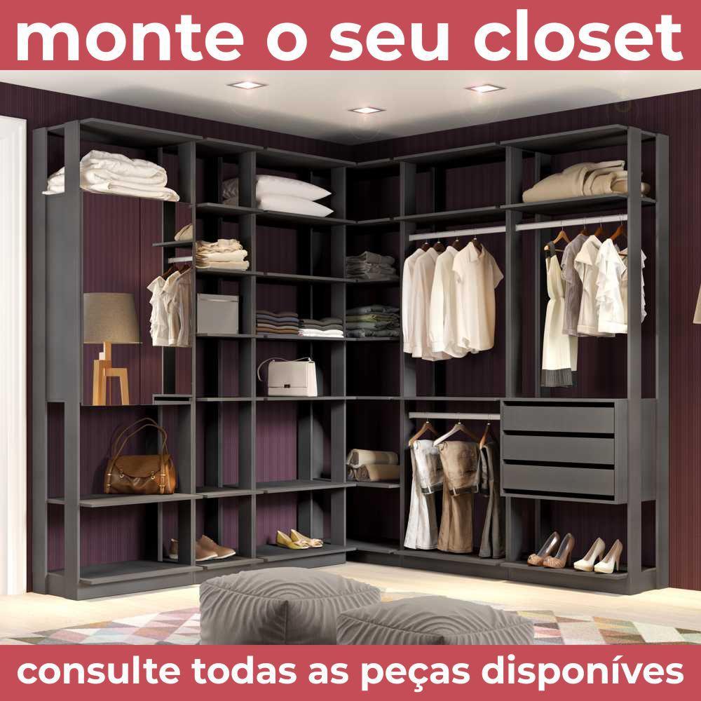 Closet Componível 5 Prateleiras 70cm 1002 Clothes BE Móveis