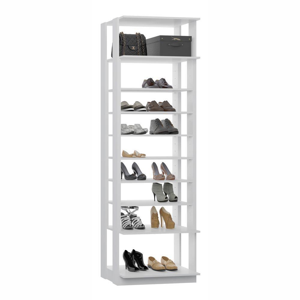 Closet Componível 6 Prateleiras Regulável 2 Fixas 1009 Clothes BE Mobiliário