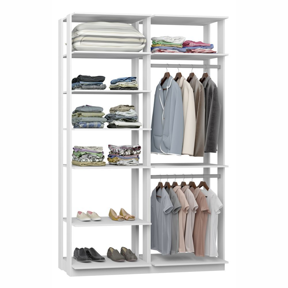 Closet Componível Completo 2 Peças 1,40m 9010 Clothes Be Mobiliário