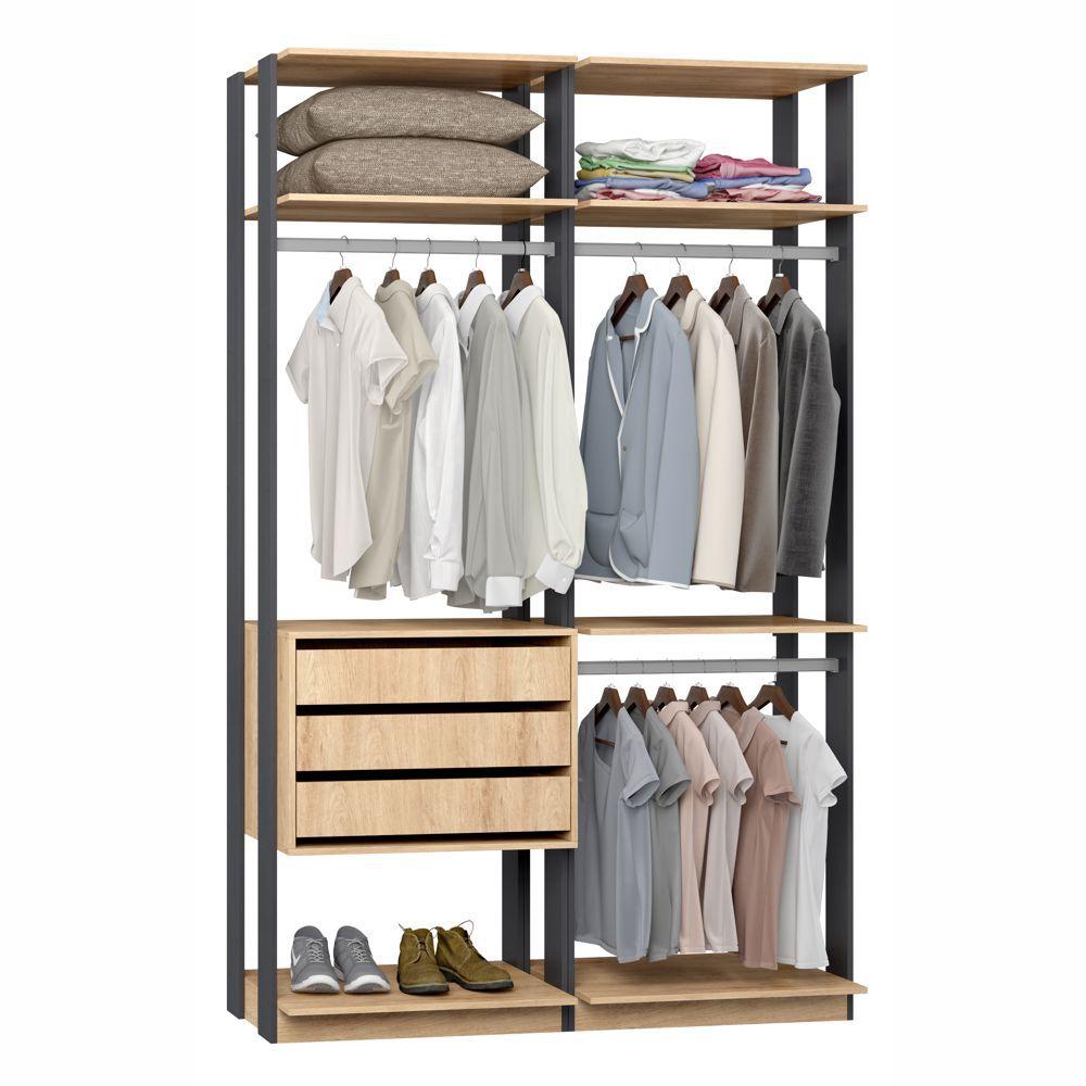 Closet Componível Completo 2 Peças 1,40m 9013 Clothes Be Mobiliário