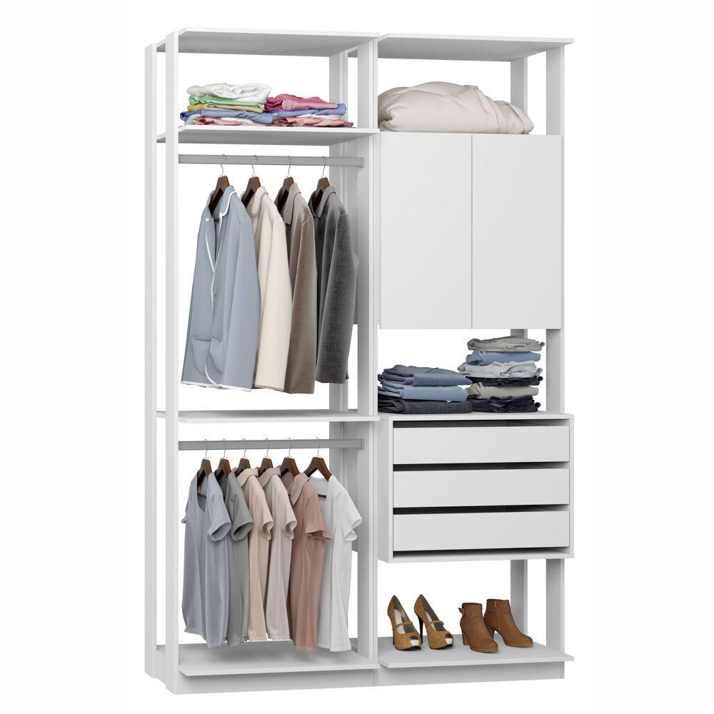 Closet Componível Completo 2 Peças 1,40m 9014 Clothes Be Mobiliário