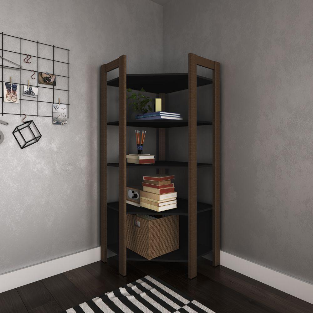 Closet Modulado Aberto - Estante de Canto 70,5x70,5cm com 5 Prateleiras AZ1020 Tecno Móbili