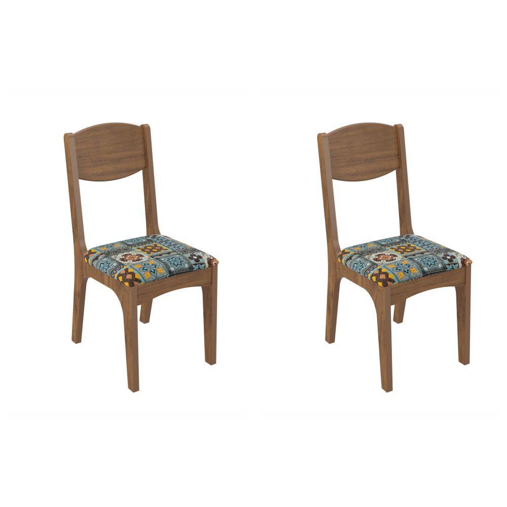 Conjunto 2 Cadeiras Assento Estofado MDF CA12/2 Dalla Costa
