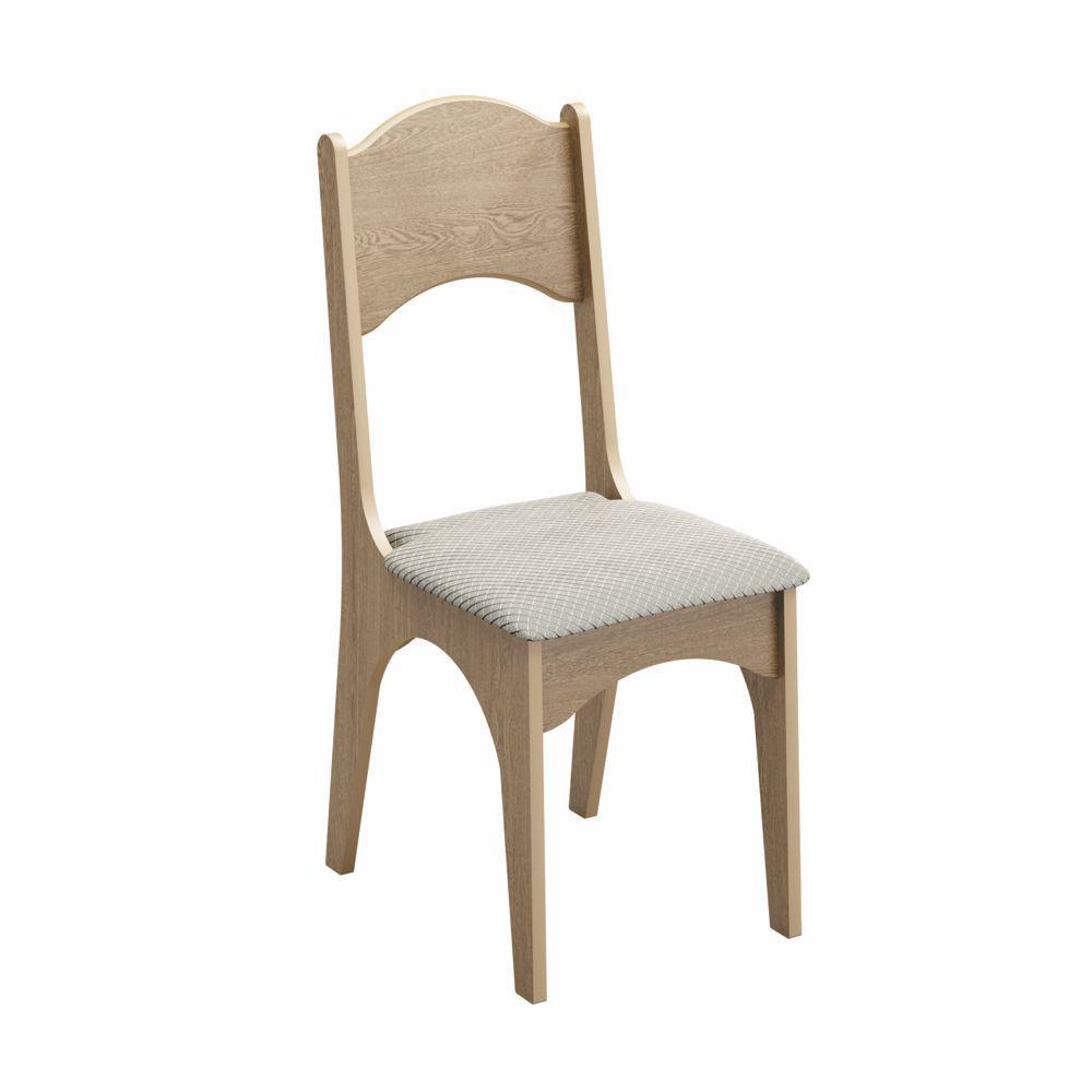 Conjunto 2 Cadeiras Assento Estofado 100% MDF CA18/2 Dalla Costa