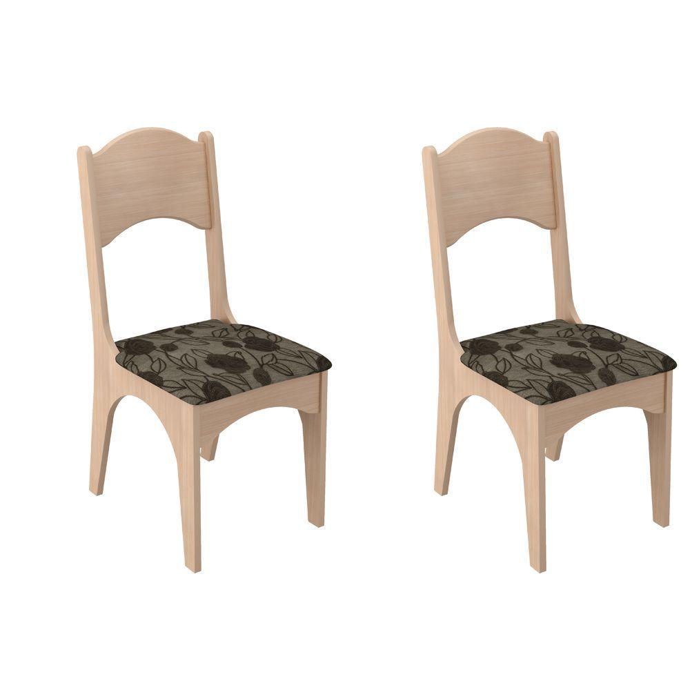 Conjunto 2 Cadeiras Assento Estofado MDF CA18/2 Dalla Costa