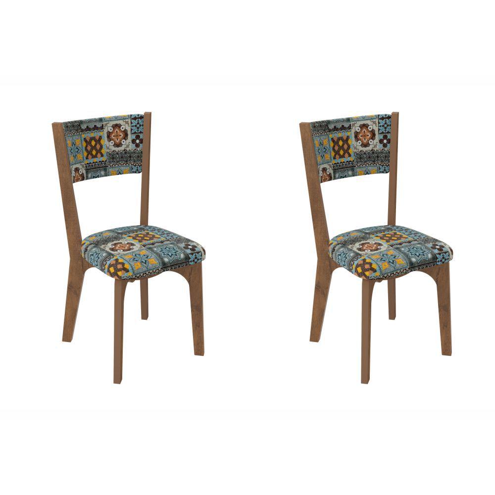 Conjunto 2 Cadeiras Estofadas MDF CA22/2 Dalla Costa
