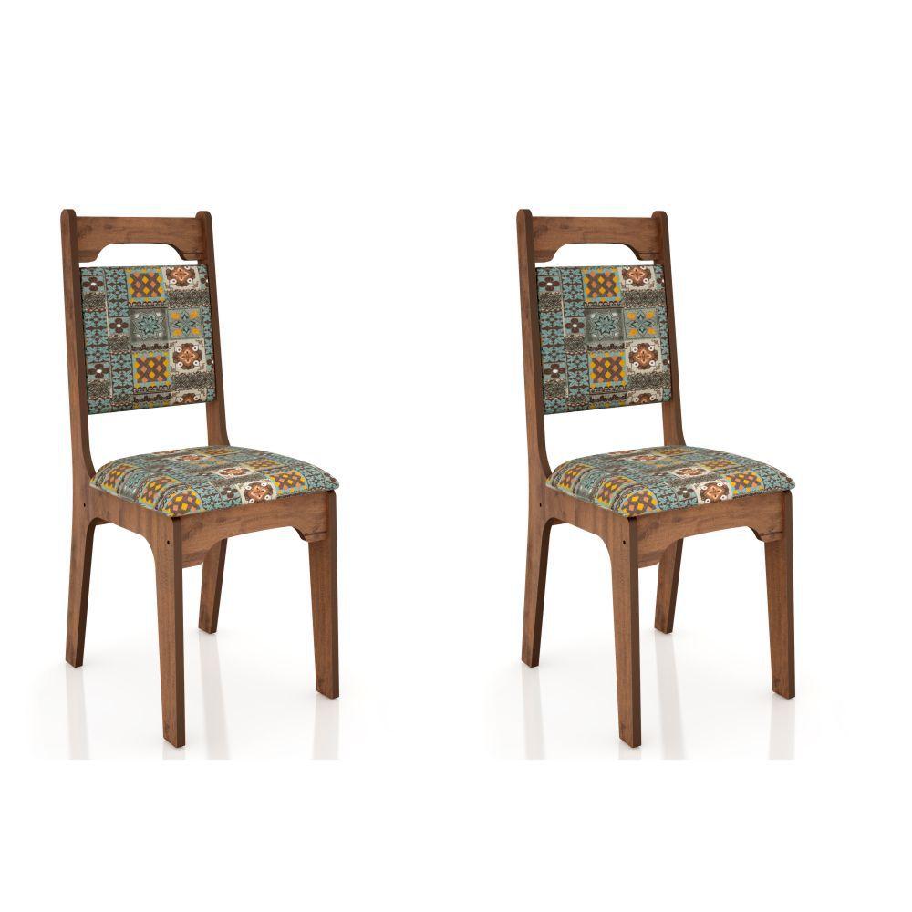 Conjunto 2 Cadeiras Estofadas MDF CA29/2 Dalla Costa