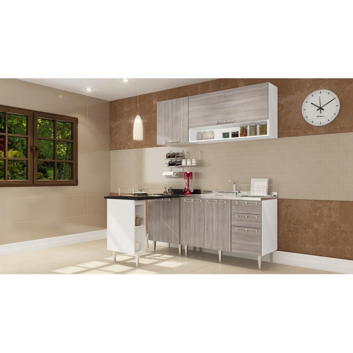 Cozinha Modulada Completa 5 peças Modelo 09 Várias Cores Mia Coccina