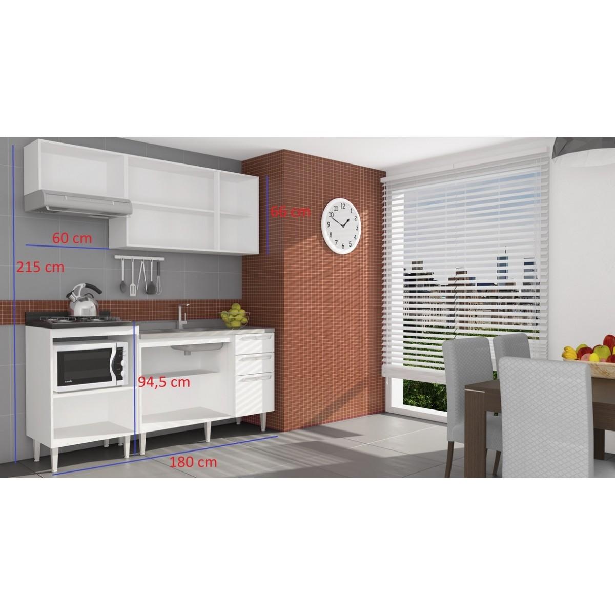 Cozinha Modulada Completa 5 Peças Modelo 10 Várias Cores Mia Coccina