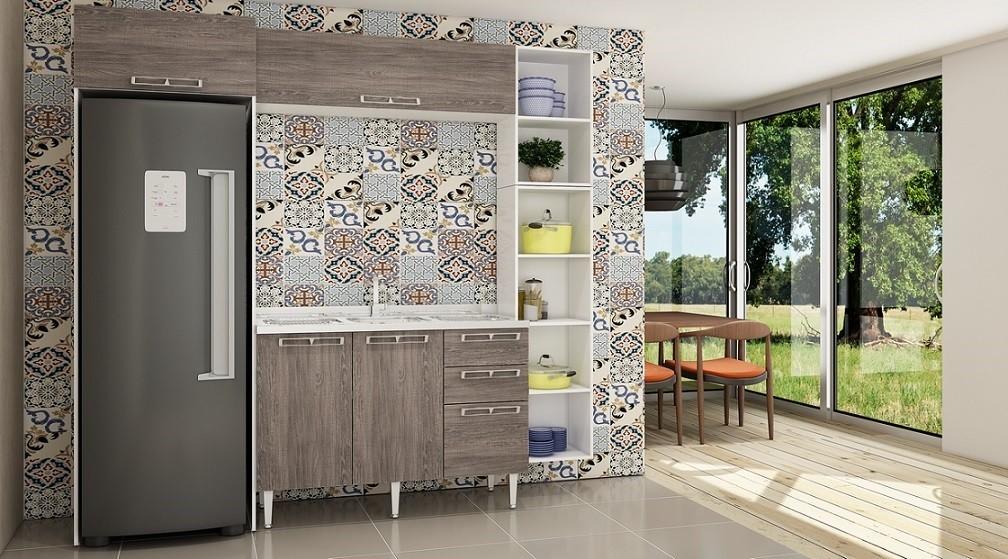 Cozinha Modulada Completa 5 Peças Modelo 11 Várias Cores Mia Coccina
