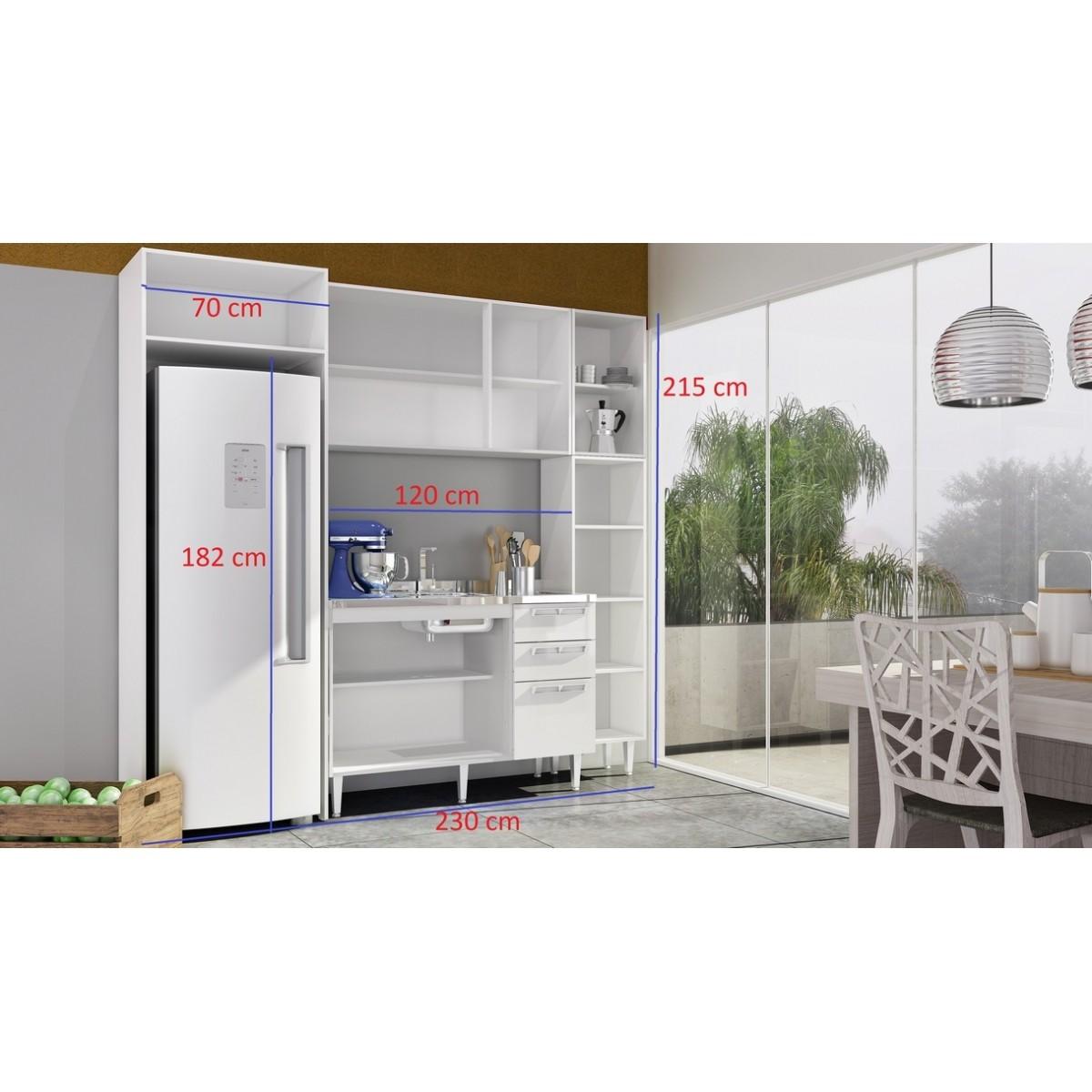Cozinha Modulada Completa 5 peças Modelo 12 Várias Cores Mia Coccina