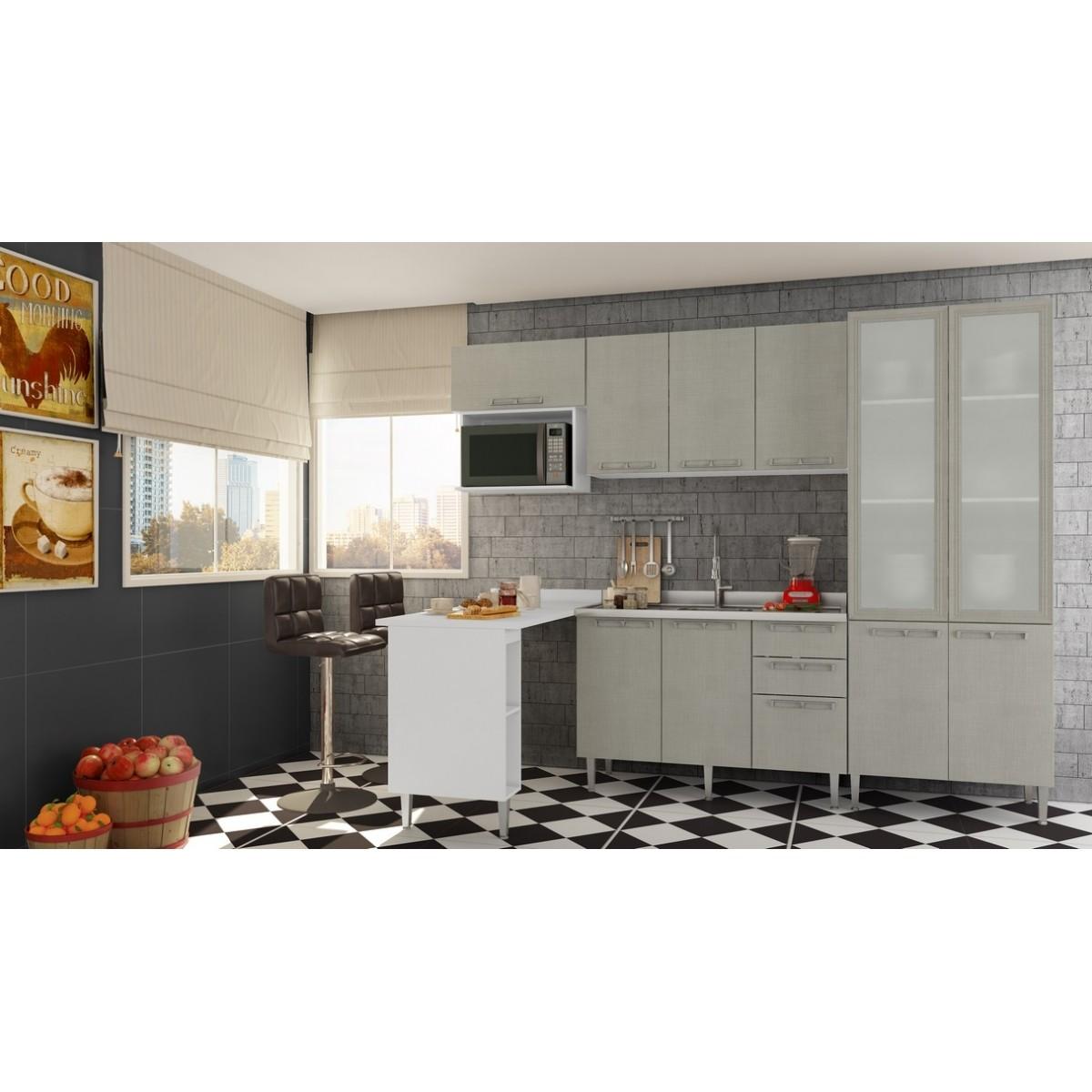 Cozinha Modulada Completa 6 peças Modelo 14 Várias Cores Mia Coccina