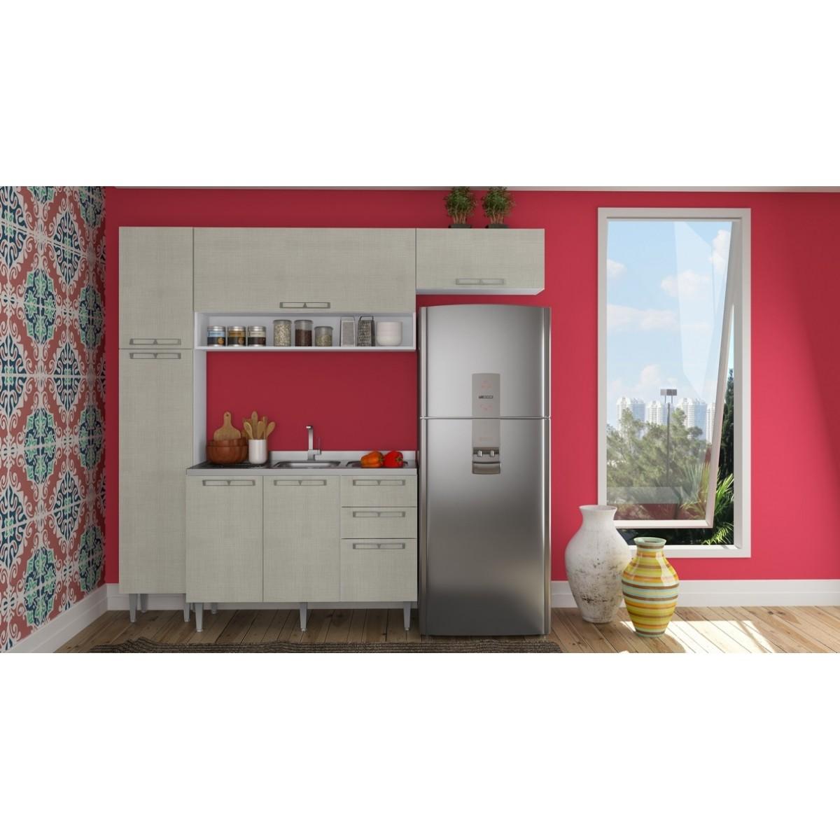 Cozinha Modulada Completa 5 peças Modelo 16 Várias Cores Mia Coccina