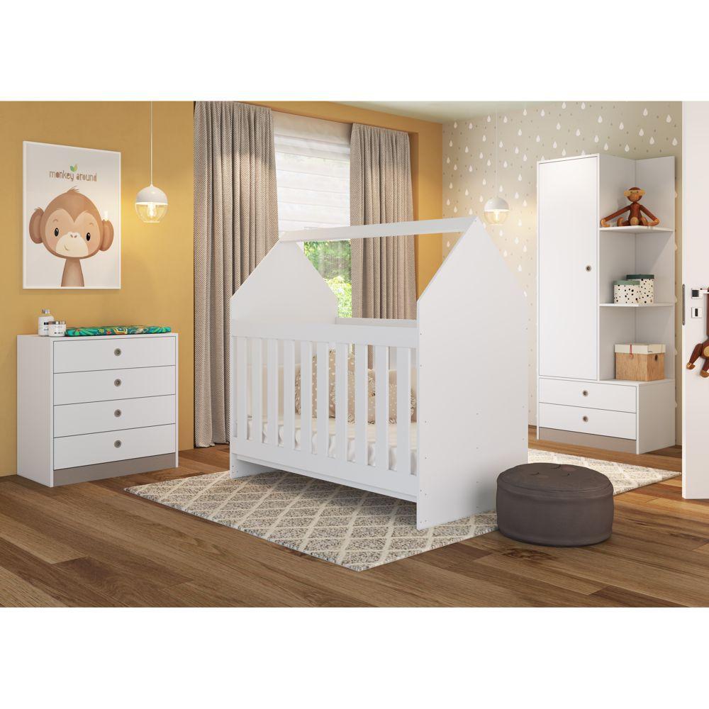 Conjunto de Móveis para Quarto de Bebê 3pc CJ048 Meu Fofinho