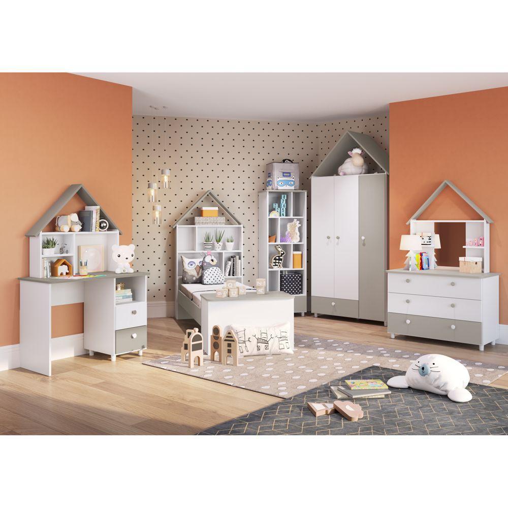Conjunto de Móveis para Quarto Infantil Completo 5pc Children's House CJ045 Meu Fofinho