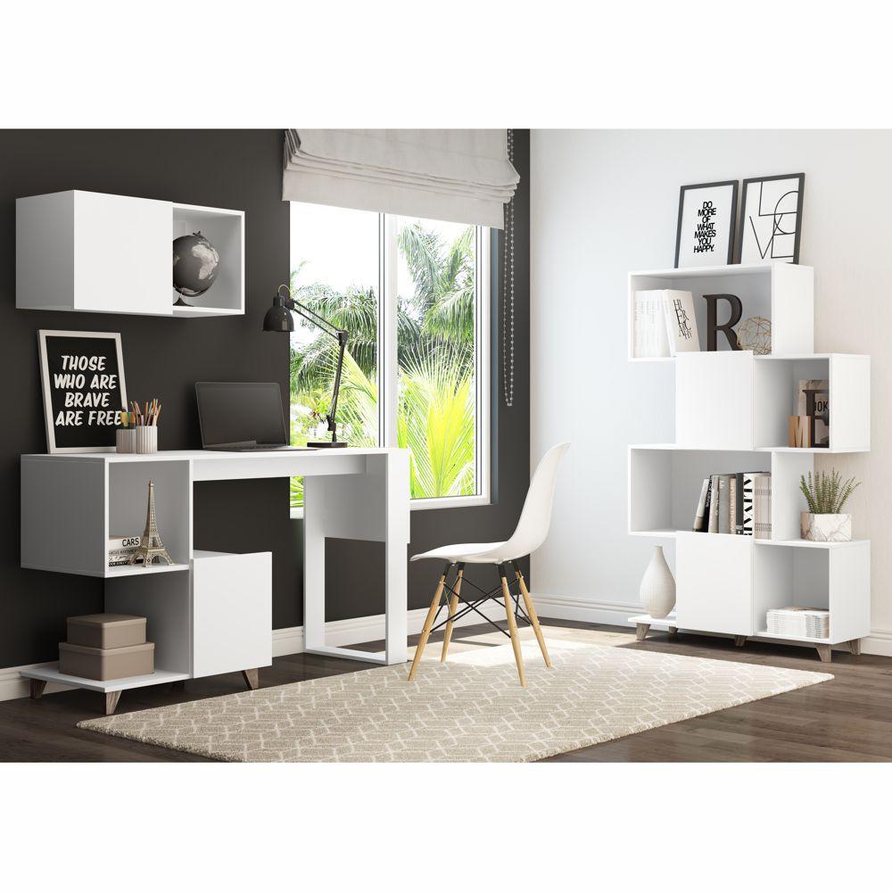 Conjunto escritório 3 peças 9005 Aurora Be mobiliário