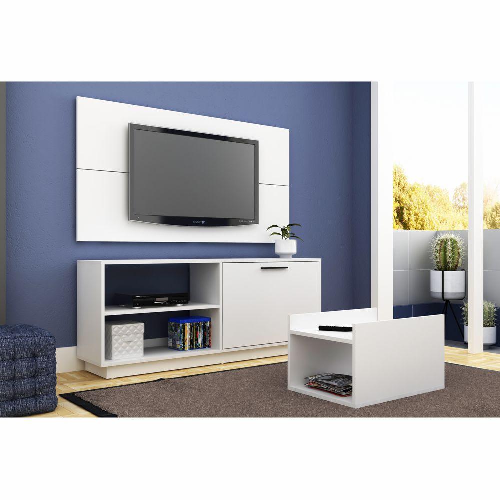 Conjunto para Sala com Rack Painel e Mesa de Centro BR 398 BRV Móveis