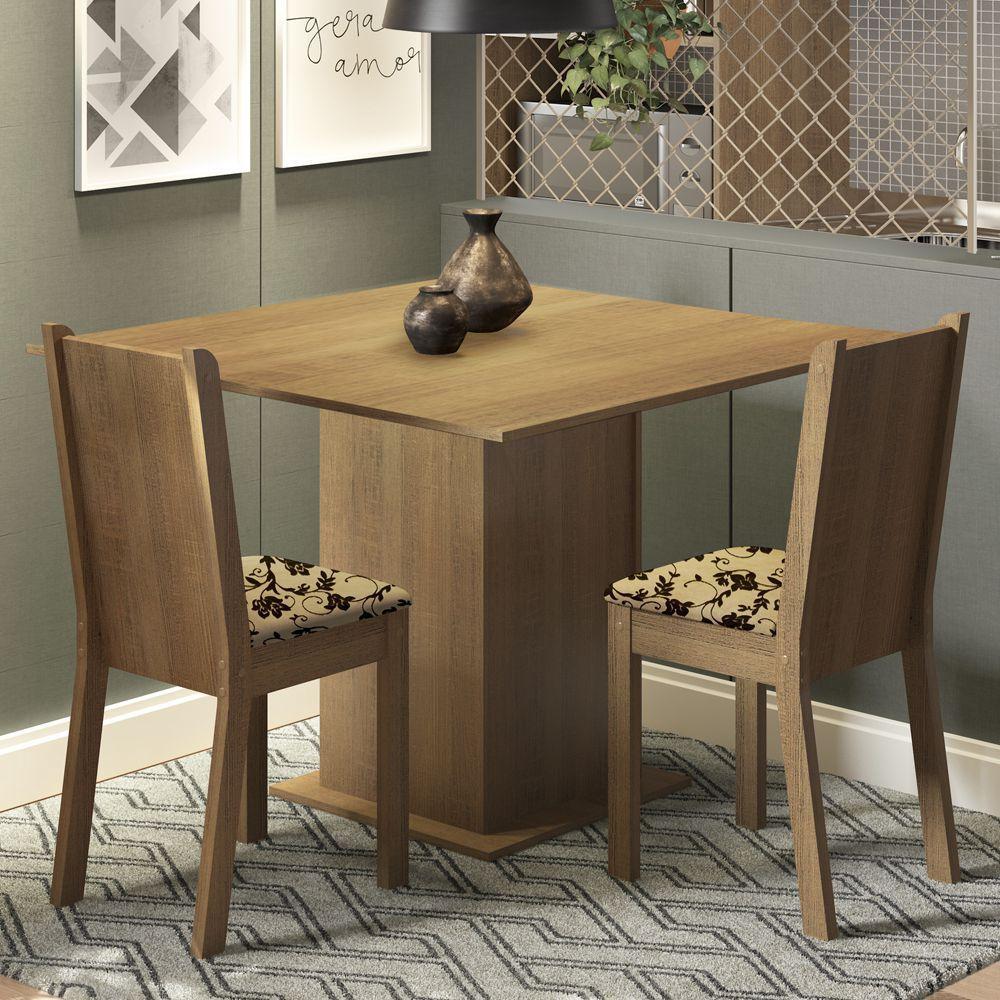 Conjunto Sala de Jantar Isa Mesa com 2 Cadeiras Madesa