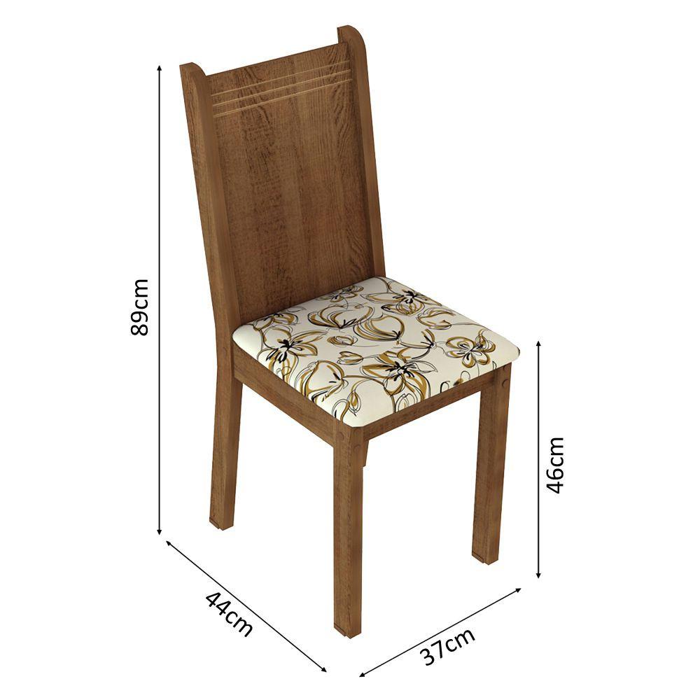 Conjunto Sala de Jantar Megan Mesa com 6 Cadeiras Madesa