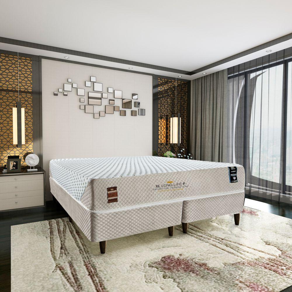 Cama Box King Size com Colchão XL Long-Life Firm 193 x 203cm King Koil