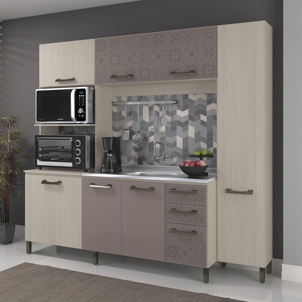 Cozinha Compacta Sense 7 Portas 3 Gavetas E780 Kappesberg Na M Vel