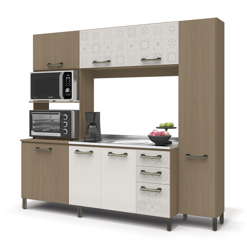 Cozinha Compacta Sense 7 Portas 3 Gavetas E780 Kappesberg