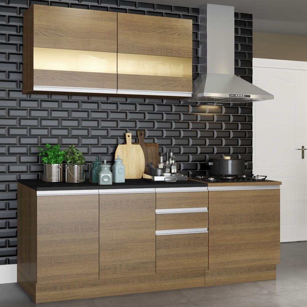 Cozinha Completa Milão com Armário e Balcão GRGL180002 Madesa