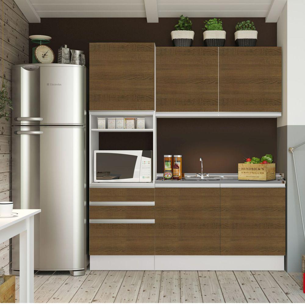 Cozinha Completa Modulada Ambiente Copa E Cozinha Dandara Cozinha