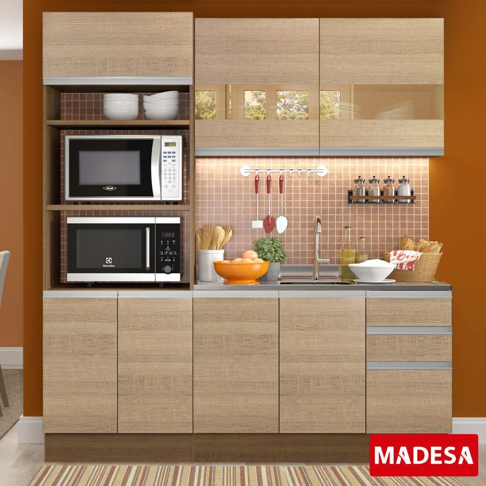 Cozinha Completa Planejada 3 peças Amora Glamy Madesa