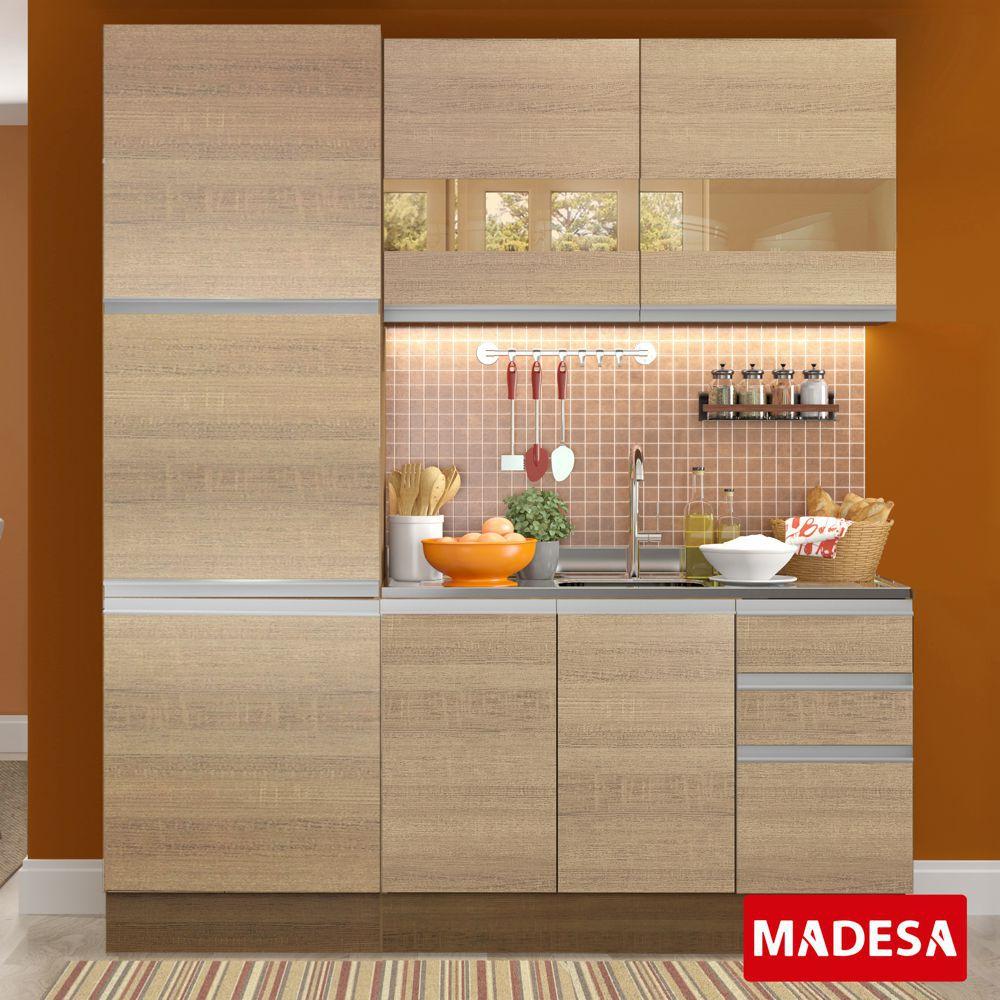 Cozinha Completa Planejada 3 peças Flora Glamy Madesa
