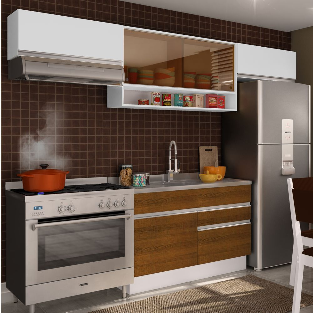 Cozinha Completa Planejada 4 peças Marina Glamy Madesa