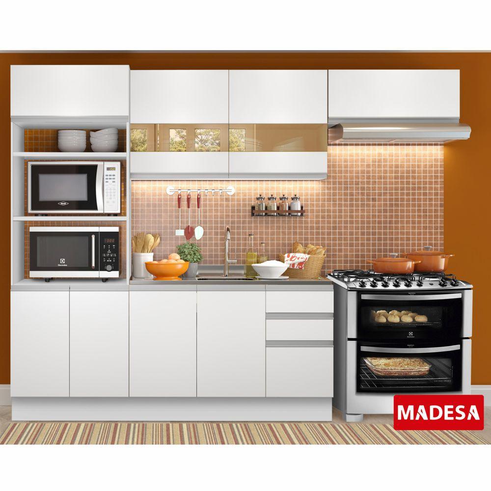Cozinha Completa Planejada 4 peças Marselha Glamy Madesa