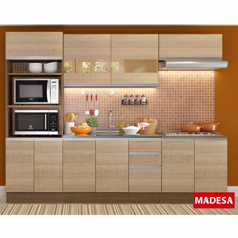 Cozinha Completa Planejada 5 peças Arizona Glamy Madesa
