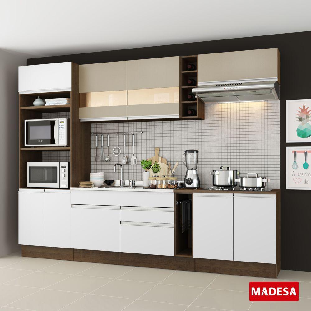 Cozinha Completa Planejada Glamy Vicenza Madesa