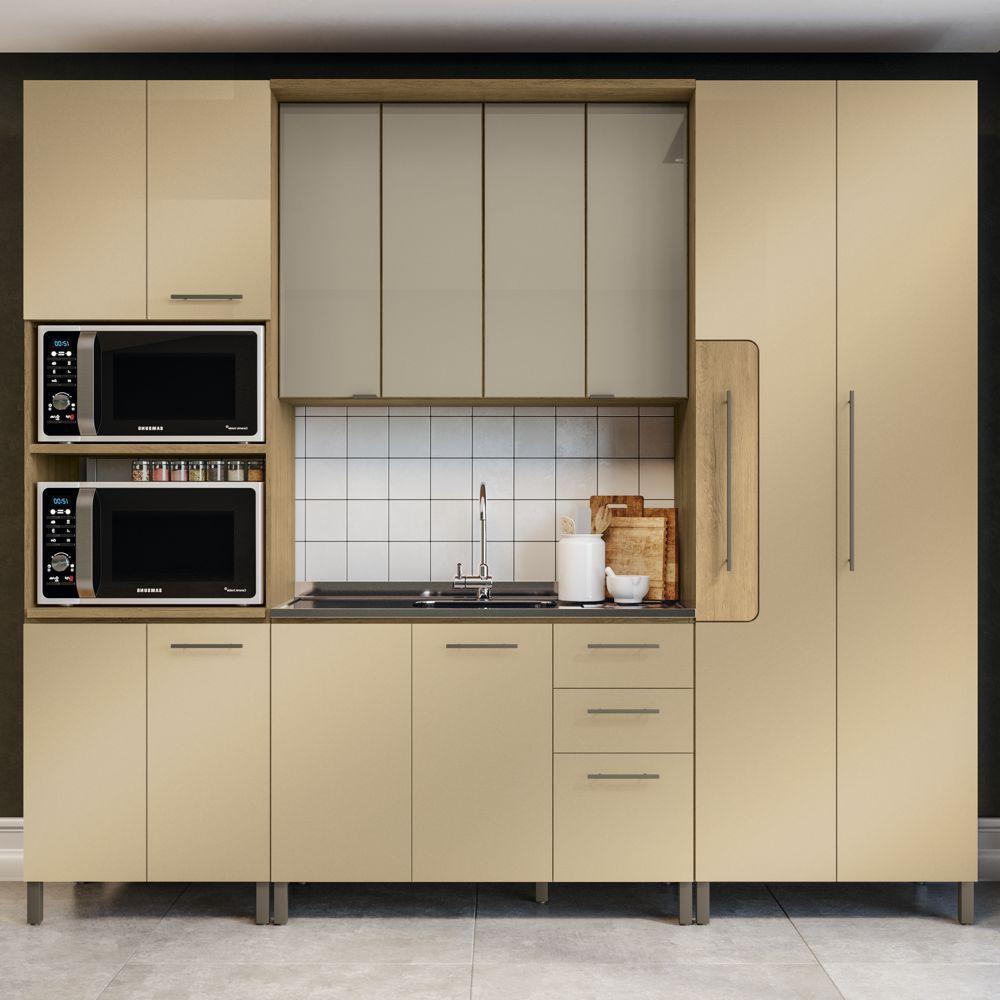 Cozinha Modulada Completa 2,70m 4pc Áurea CB517 Kappesberg