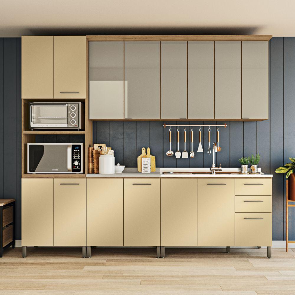 Cozinha Modulada Completa 2,70m 6pc Áurea CB511 Kappesberg