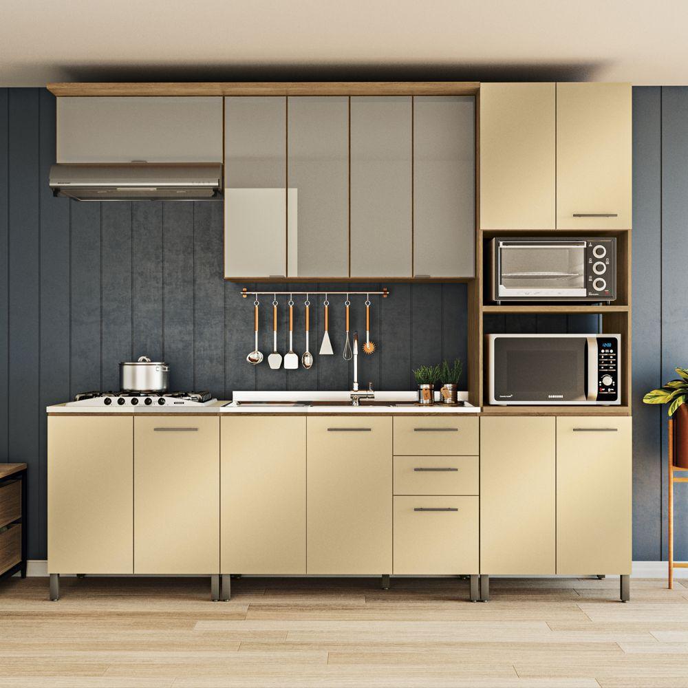 Cozinha Modulada Completa 2,70m 6pc Áurea CB515 Kappesberg