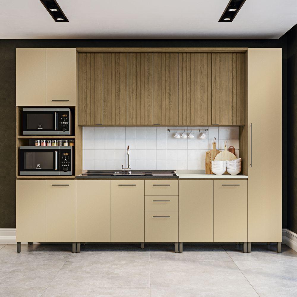 Cozinha Modulada Completa 3,10m 7pc Áurea CB509 Kappesberg