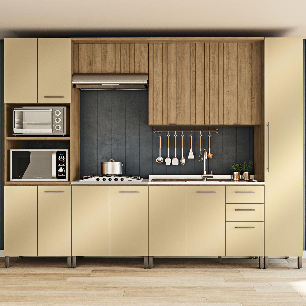Cozinha Modulada Completa 3,10m 7pc Áurea CB510 Kappesberg