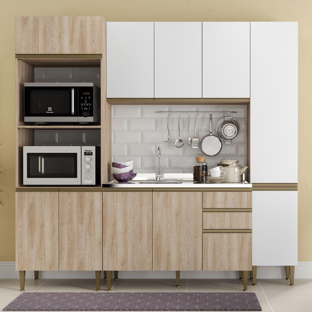 Cozinha Modulada Completa 4pc 2,30m 9001 Cook BE Mobiliário