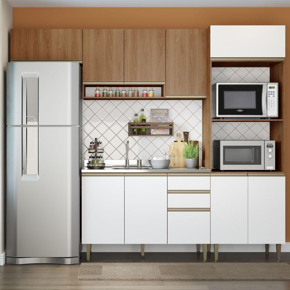Cozinha Modulada Completa 4pc 2,60m 9002 Cook BE Mobiliário