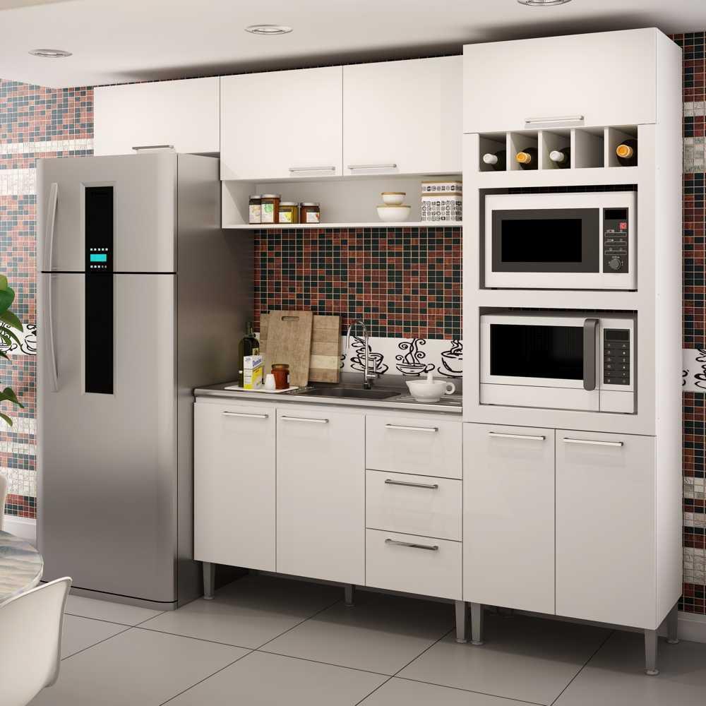 Cozinha Modulada Completa 4pc 2,60m Várias Cores Yasmin GenialFlex