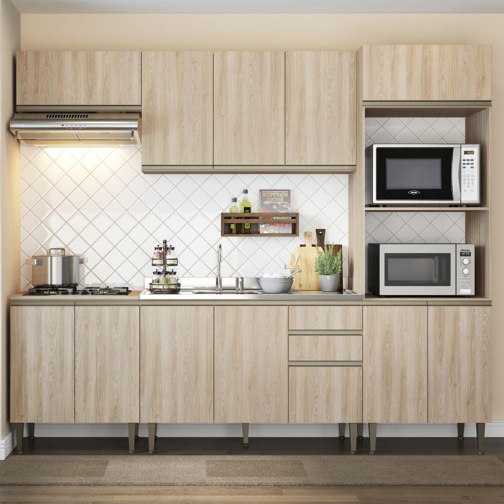 Cozinha Modulada Completa 5pc 2,60m 9004 Cook BE Mobiliário
