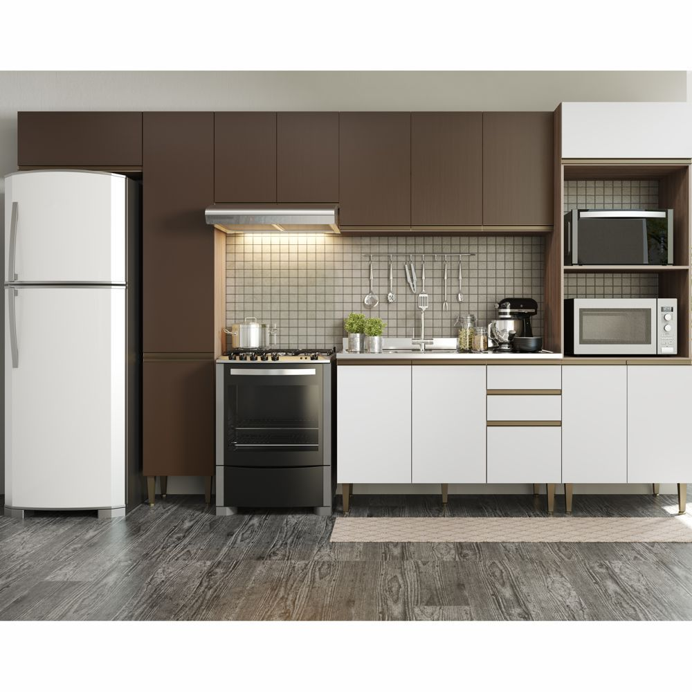 Cozinha Modulada Completa 6pc 3,70m 9003 Cook BE Mobiliário