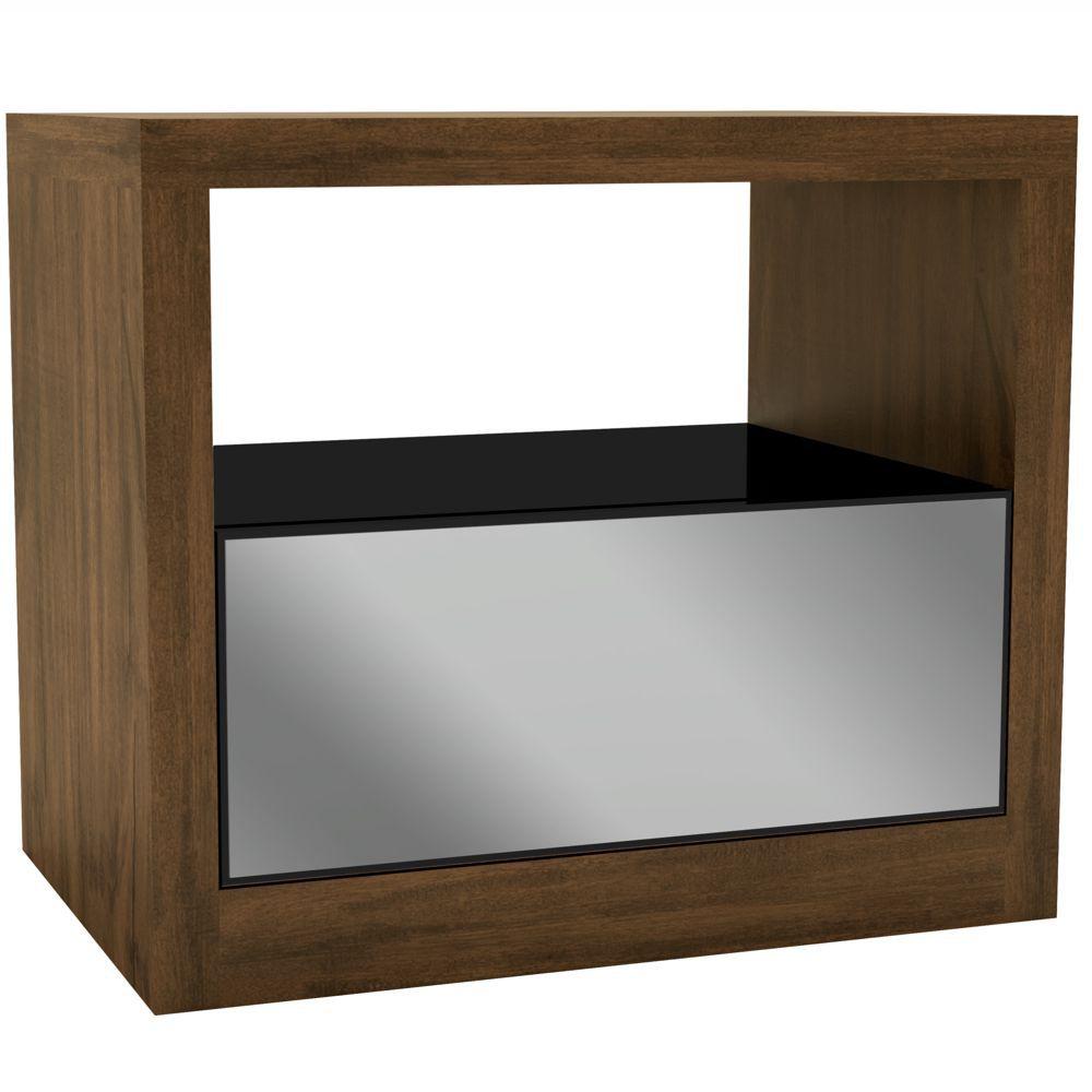 Criado Mudo 67cm Gaveta de Espelho MDF Várias Cores TW40E Dalla Costa